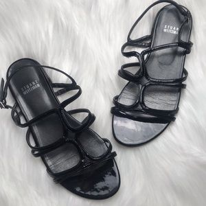 Stuart Weitzman Strappy Patent Leather 6.5 Sandal